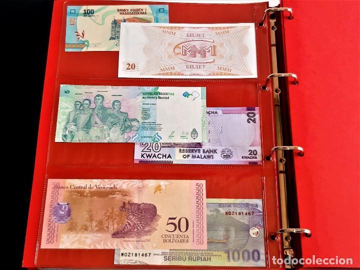 Billetes extranjeros: ALBUM CON 174 BILLETES ORIGINALES VARIOS DEL MUNDO - Foto 23 - 275096853
