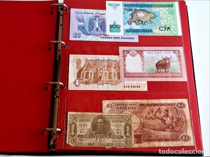 Billetes extranjeros: ALBUM CON 174 BILLETES ORIGINALES VARIOS DEL MUNDO - Foto 24 - 275096853