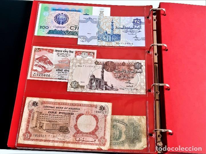 Billetes extranjeros: ALBUM CON 174 BILLETES ORIGINALES VARIOS DEL MUNDO - Foto 25 - 275096853