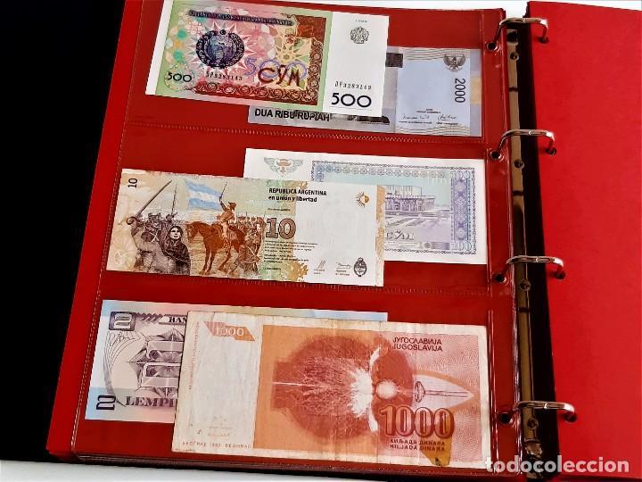 Billetes extranjeros: ALBUM CON 174 BILLETES ORIGINALES VARIOS DEL MUNDO - Foto 27 - 275096853