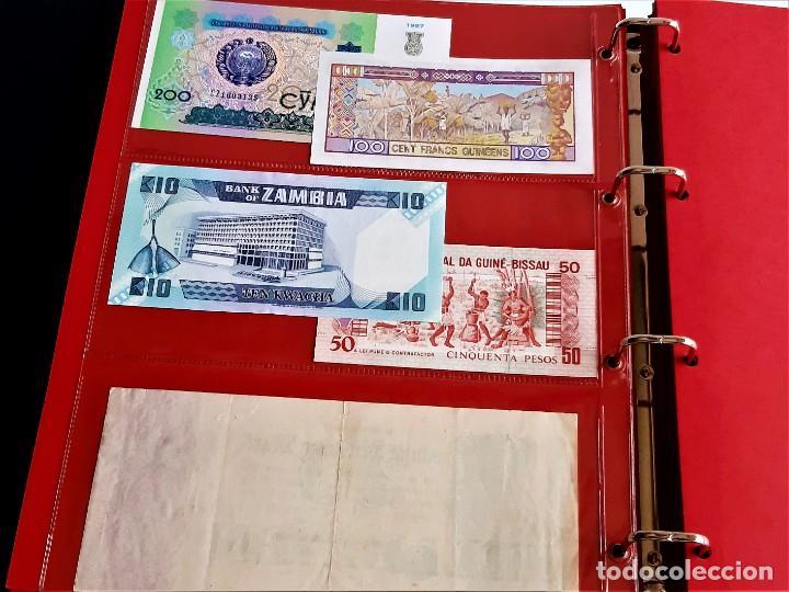 Billetes extranjeros: ALBUM CON 174 BILLETES ORIGINALES VARIOS DEL MUNDO - Foto 29 - 275096853