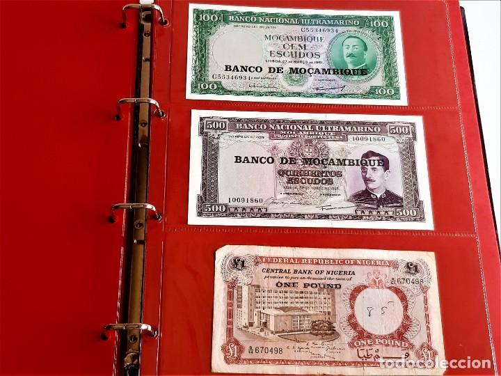 Billetes extranjeros: ALBUM CON 174 BILLETES ORIGINALES VARIOS DEL MUNDO - Foto 30 - 275096853