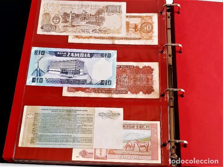 Billetes extranjeros: ALBUM CON 174 BILLETES ORIGINALES VARIOS DEL MUNDO - Foto 33 - 275096853