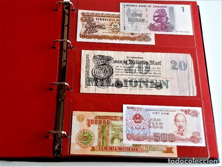 Billetes extranjeros: ALBUM CON 174 BILLETES ORIGINALES VARIOS DEL MUNDO - Foto 34 - 275096853