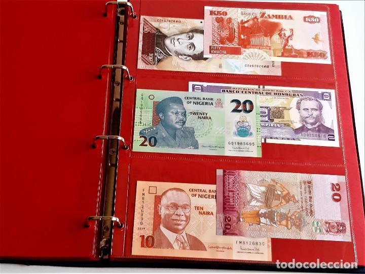 Billetes extranjeros: ALBUM CON 174 BILLETES ORIGINALES VARIOS DEL MUNDO - Foto 36 - 275096853