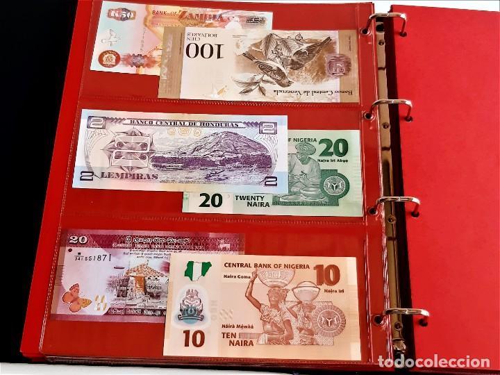 Billetes extranjeros: ALBUM CON 174 BILLETES ORIGINALES VARIOS DEL MUNDO - Foto 37 - 275096853