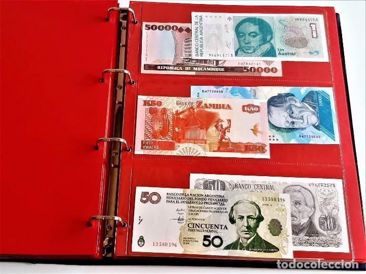 Billetes extranjeros: ALBUM CON 174 BILLETES ORIGINALES VARIOS DEL MUNDO - Foto 38 - 275096853