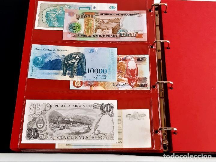 Billetes extranjeros: ALBUM CON 174 BILLETES ORIGINALES VARIOS DEL MUNDO - Foto 39 - 275096853