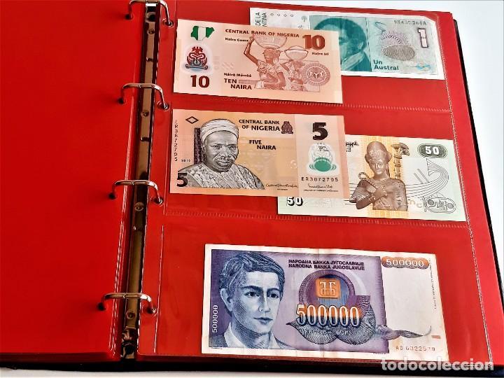 Billetes extranjeros: ALBUM CON 174 BILLETES ORIGINALES VARIOS DEL MUNDO - Foto 40 - 275096853