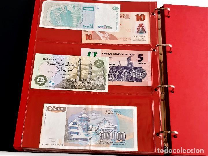 Billetes extranjeros: ALBUM CON 174 BILLETES ORIGINALES VARIOS DEL MUNDO - Foto 41 - 275096853