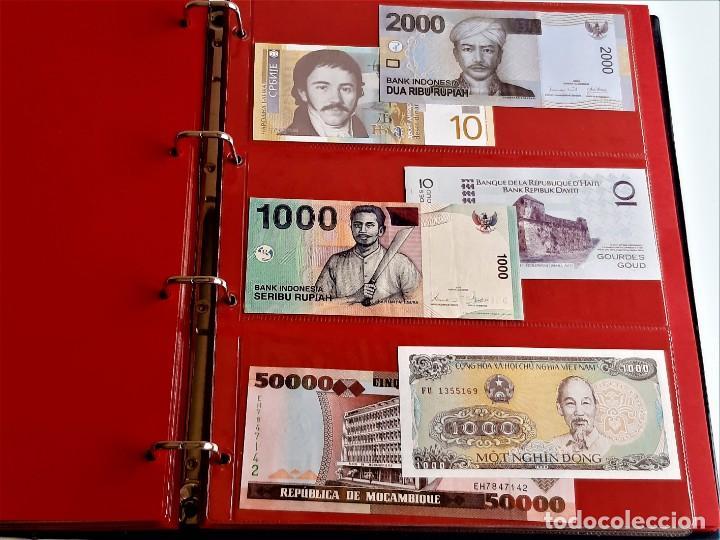 Billetes extranjeros: ALBUM CON 174 BILLETES ORIGINALES VARIOS DEL MUNDO - Foto 42 - 275096853