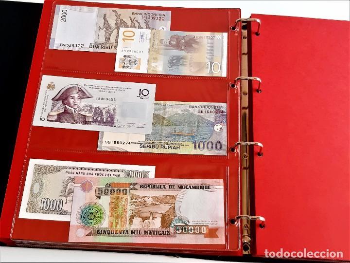 Billetes extranjeros: ALBUM CON 174 BILLETES ORIGINALES VARIOS DEL MUNDO - Foto 43 - 275096853