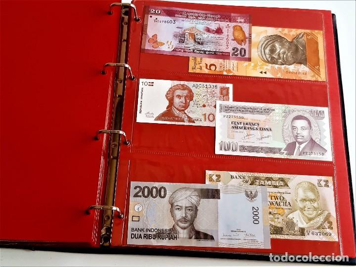 Billetes extranjeros: ALBUM CON 174 BILLETES ORIGINALES VARIOS DEL MUNDO - Foto 44 - 275096853