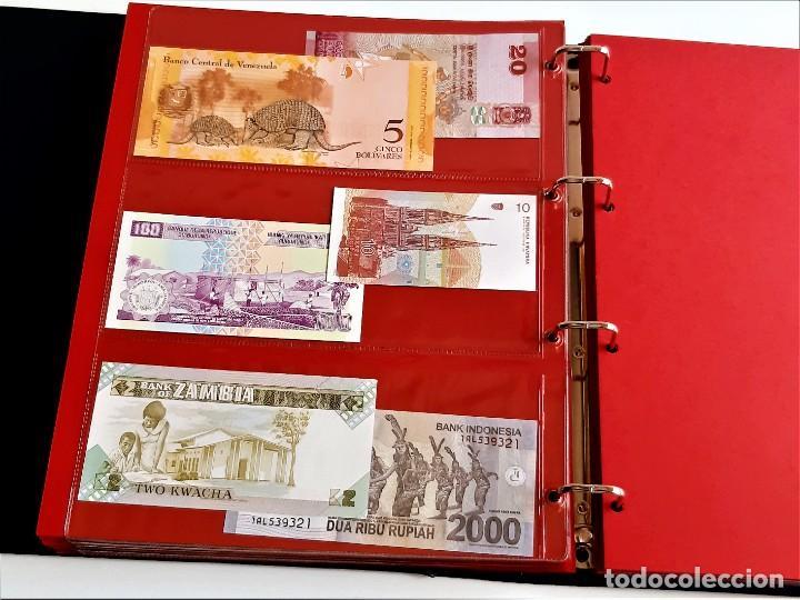 Billetes extranjeros: ALBUM CON 174 BILLETES ORIGINALES VARIOS DEL MUNDO - Foto 45 - 275096853