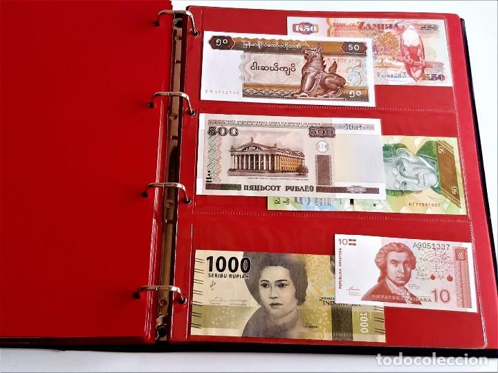 Billetes extranjeros: ALBUM CON 174 BILLETES ORIGINALES VARIOS DEL MUNDO - Foto 46 - 275096853