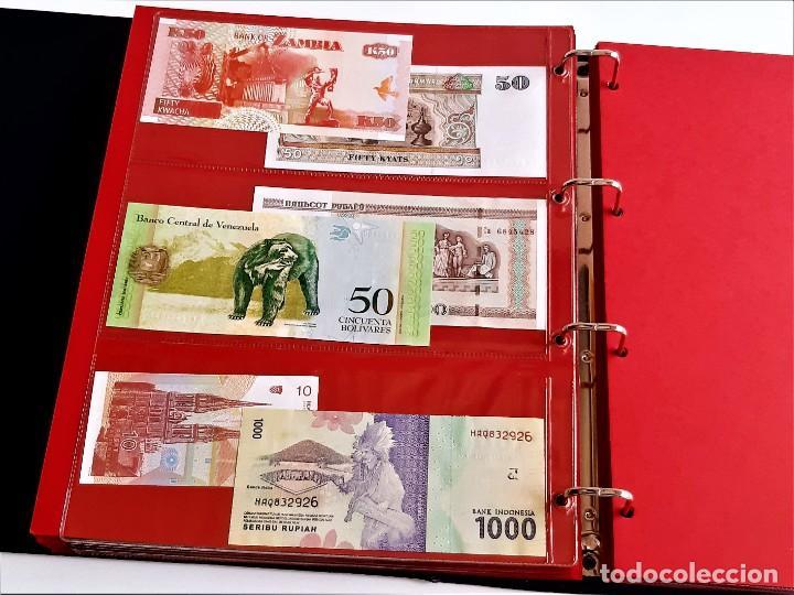 Billetes extranjeros: ALBUM CON 174 BILLETES ORIGINALES VARIOS DEL MUNDO - Foto 47 - 275096853