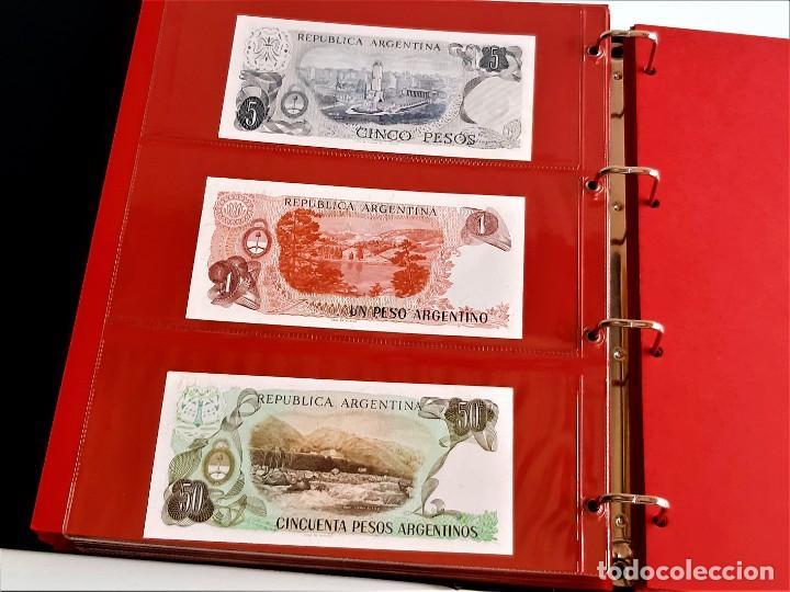 Billetes extranjeros: ALBUM CON 174 BILLETES ORIGINALES VARIOS DEL MUNDO - Foto 49 - 275096853