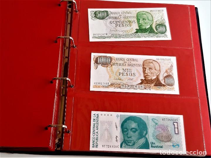 Billetes extranjeros: ALBUM CON 174 BILLETES ORIGINALES VARIOS DEL MUNDO - Foto 50 - 275096853