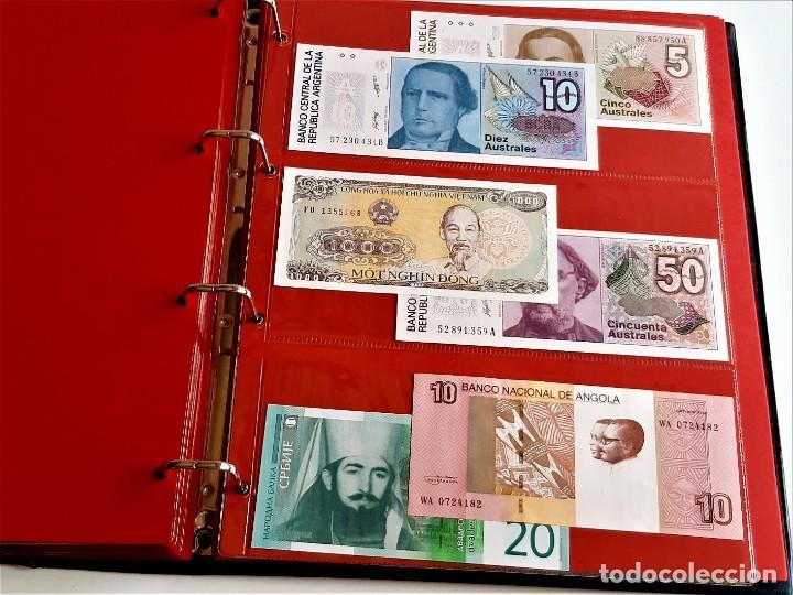 Billetes extranjeros: ALBUM CON 174 BILLETES ORIGINALES VARIOS DEL MUNDO - Foto 52 - 275096853