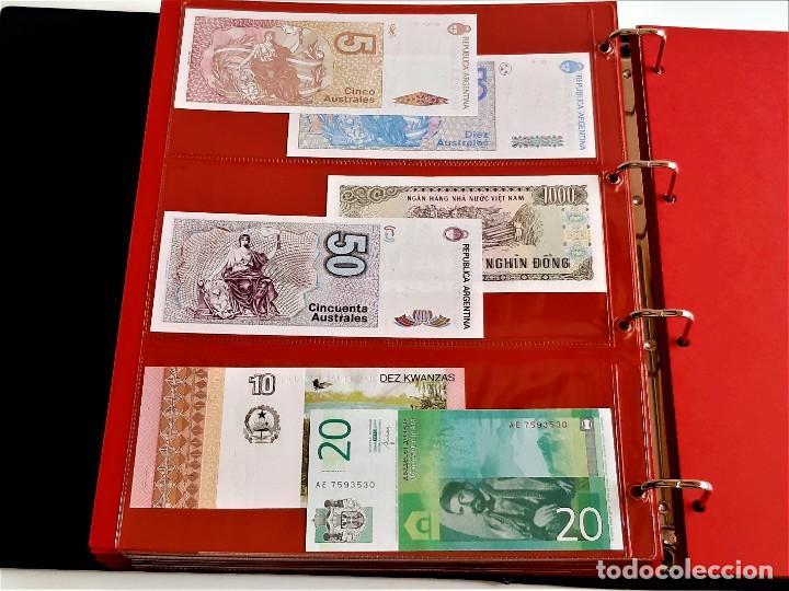 Billetes extranjeros: ALBUM CON 174 BILLETES ORIGINALES VARIOS DEL MUNDO - Foto 53 - 275096853