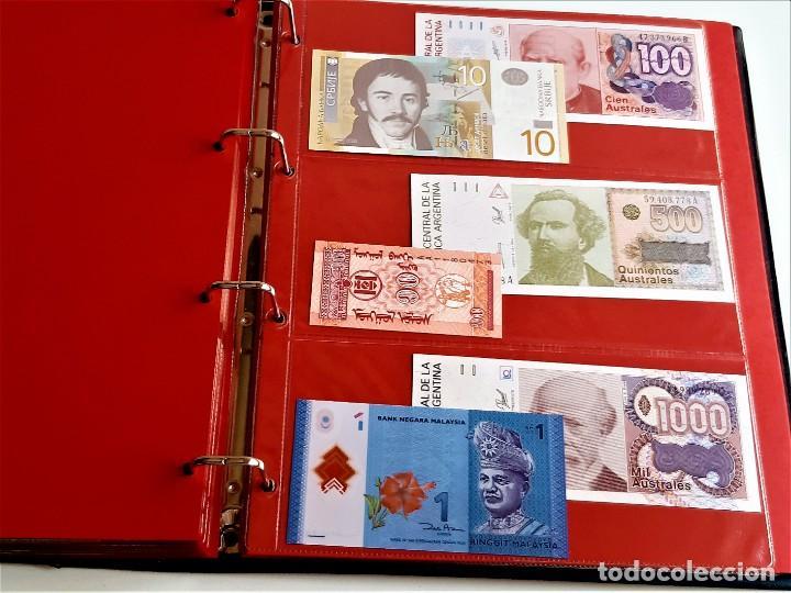 Billetes extranjeros: ALBUM CON 174 BILLETES ORIGINALES VARIOS DEL MUNDO - Foto 54 - 275096853