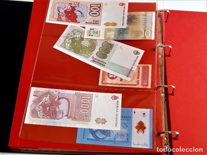 Billetes extranjeros: ALBUM CON 174 BILLETES ORIGINALES VARIOS DEL MUNDO - Foto 55 - 275096853