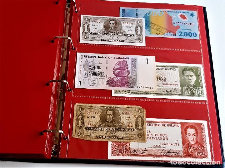 Billetes extranjeros: ALBUM CON 174 BILLETES ORIGINALES VARIOS DEL MUNDO - Foto 56 - 275096853