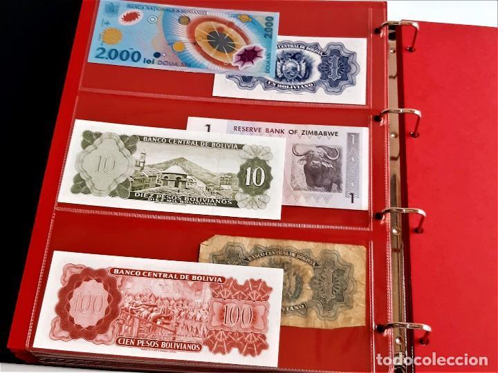 Billetes extranjeros: ALBUM CON 174 BILLETES ORIGINALES VARIOS DEL MUNDO - Foto 57 - 275096853