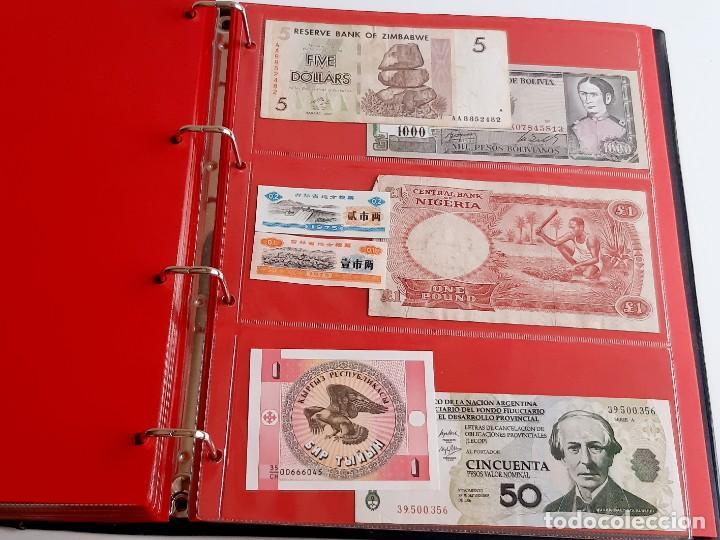 Billetes extranjeros: ALBUM CON 174 BILLETES ORIGINALES VARIOS DEL MUNDO - Foto 58 - 275096853