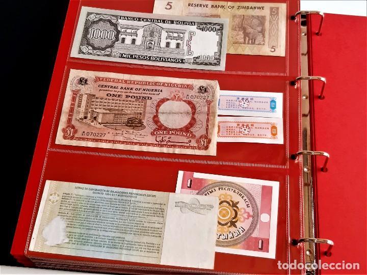 Billetes extranjeros: ALBUM CON 174 BILLETES ORIGINALES VARIOS DEL MUNDO - Foto 59 - 275096853