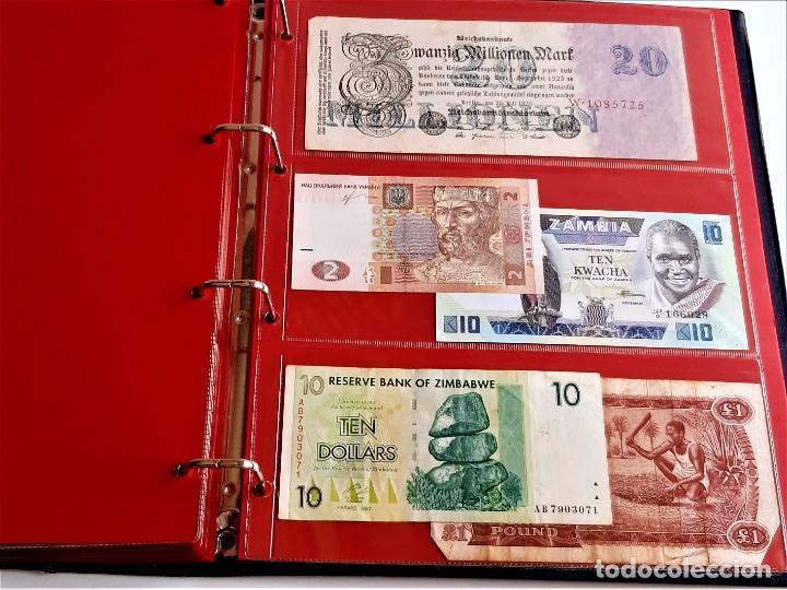 Billetes extranjeros: ALBUM CON 174 BILLETES ORIGINALES VARIOS DEL MUNDO - Foto 60 - 275096853
