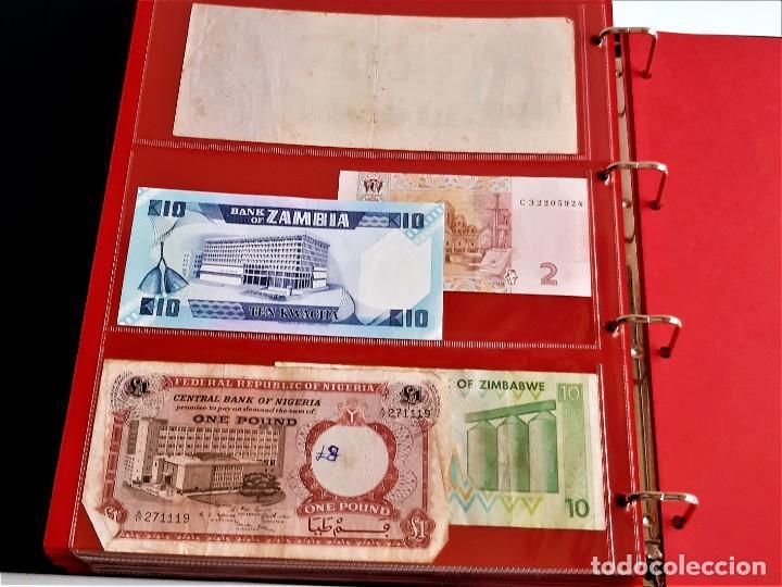 Billetes extranjeros: ALBUM CON 174 BILLETES ORIGINALES VARIOS DEL MUNDO - Foto 61 - 275096853
