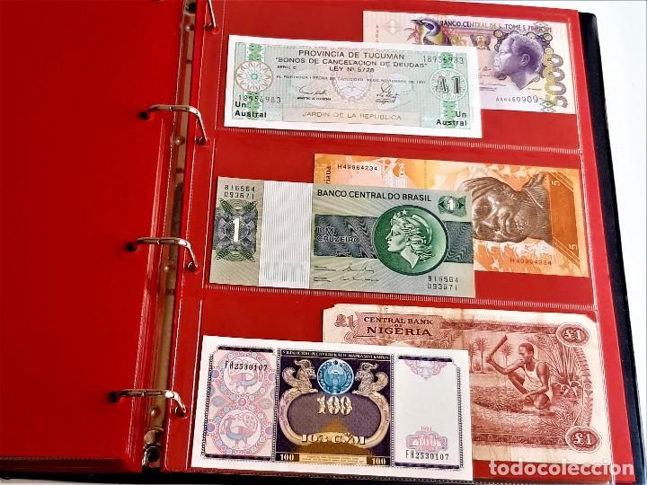 Billetes extranjeros: ALBUM CON 174 BILLETES ORIGINALES VARIOS DEL MUNDO - Foto 62 - 275096853