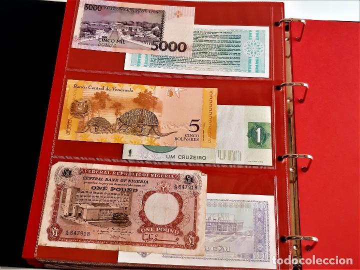 Billetes extranjeros: ALBUM CON 174 BILLETES ORIGINALES VARIOS DEL MUNDO - Foto 63 - 275096853