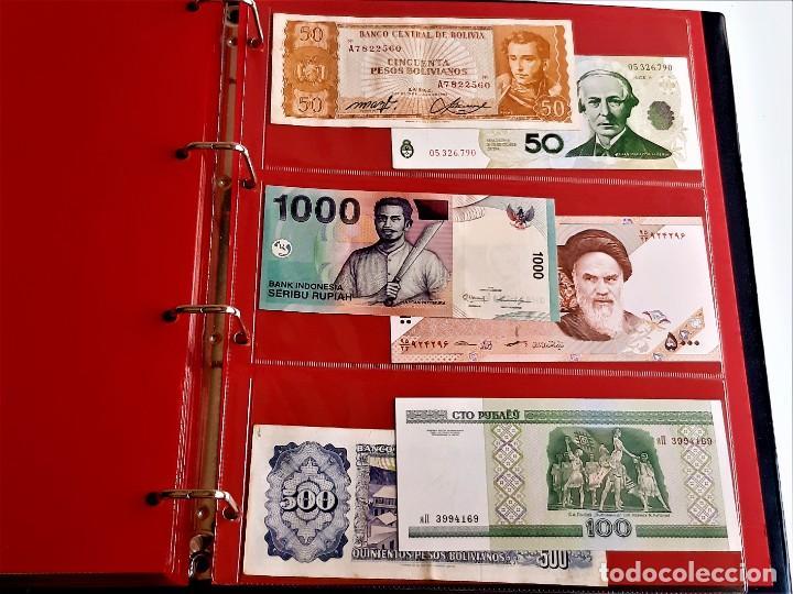 Billetes extranjeros: ALBUM CON 174 BILLETES ORIGINALES VARIOS DEL MUNDO - Foto 64 - 275096853
