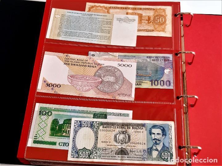 Billetes extranjeros: ALBUM CON 174 BILLETES ORIGINALES VARIOS DEL MUNDO - Foto 65 - 275096853