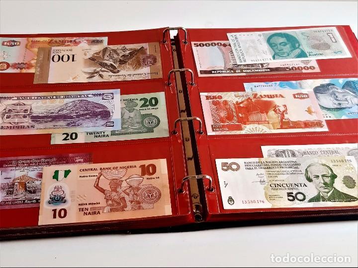 Billetes extranjeros: ALBUM CON 174 BILLETES ORIGINALES VARIOS DEL MUNDO - Foto 66 - 275096853