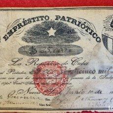 Billetes extranjeros: BILLETE EMPRESTITO PATRIOTICO 25000 PESOS CUBA NEW YORK 1854 GUERRA INDEPENDENCIA ORIGINAL. Lote 275930593