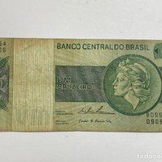 Billetes extranjeros: BILLETE BRASIL 1 CRUZEIRO 1957. Lote 276269973