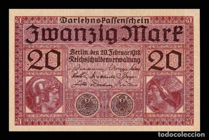 ALEMANIA GERMANY 20 MARK 1918 PICK 57 SC UNC (Numismática - Notafilia - Billetes Internacionales)