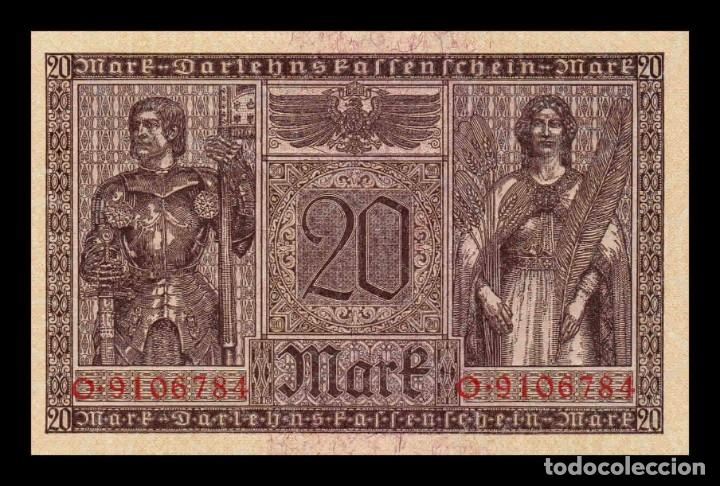 Billetes extranjeros: Alemania Germany 20 Mark 1918 Pick 57 SC UNC - Foto 2 - 276801973