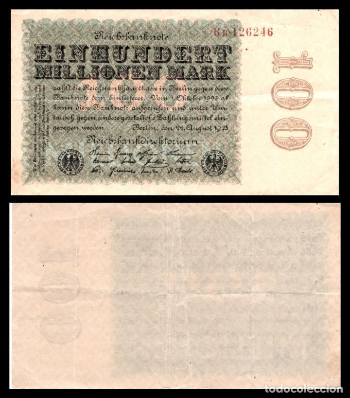 ALEMANIA 100 MILLONES DE MARCOS 1923 PIK 107B MBC+ (Numismática - Notafilia - Billetes Internacionales)