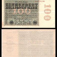Billetes extranjeros: ALEMANIA 100 MILLONES DE MARCOS 1923 PIK 107B MBC+. Lote 277174673