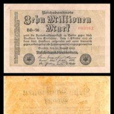 Billetes extranjeros: ALEMANIA 10 MILLONES DE MARCOS 1923 PIK 106A EBC. Lote 277175843
