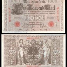 Billetes extranjeros: ALEMANIA 1000 MARCOS 1910 PIK 44B EBC+. Lote 277177798