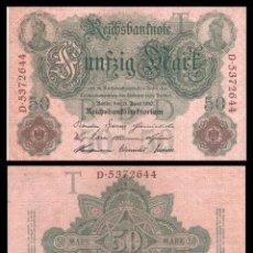 Billetes extranjeros: ALEMANIA 50 MARCOS 1910 PIK 41 MBC+. Lote 277179108