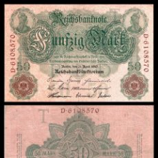 Billetes extranjeros: ALEMANIA 50 MARCOS 1910 PIK 41 MBC+. Lote 277179618