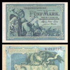 Billetes extranjeros: ALEMANIA 5 MARCOS 1904 PIK 8 EBC. Lote 277181408