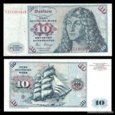 Billetes extranjeros: ALEMANIA 10 MARCOS 1980 PIK 31 MBC+. Lote 277264963