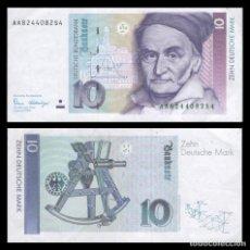 Billetes extranjeros: ALEMANIA 10 MARCOS 1989 PIK 38 SERIE AA EBC. Lote 277265778